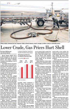 Shell 2Q earnings in print